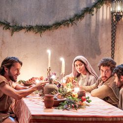 """Jesus Christ's Disciples at the wedding at Cana in Episode 5 of """"The Chosen."""""""
