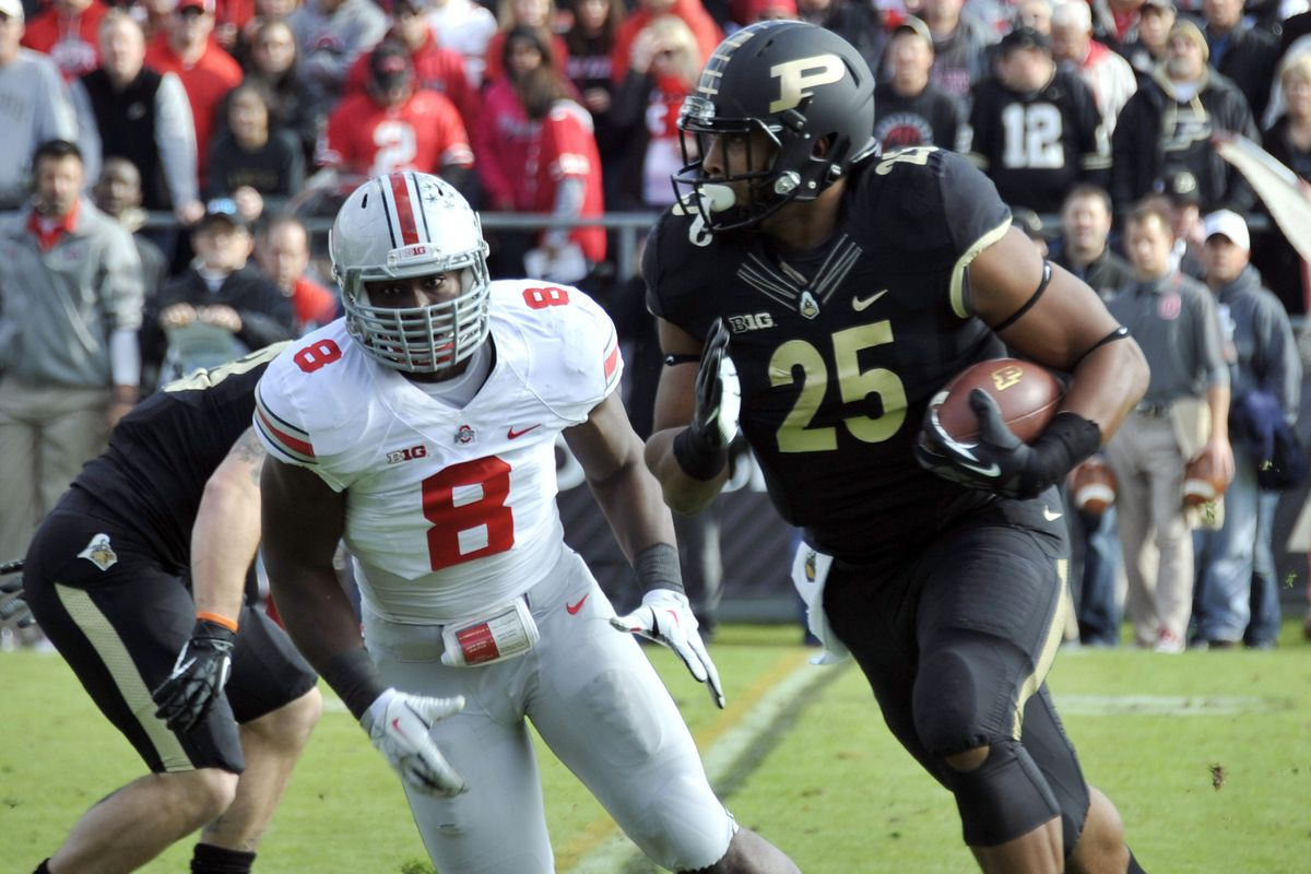 Former Ohio State defensive end Noah Spence during a 2013 game at Purdue.