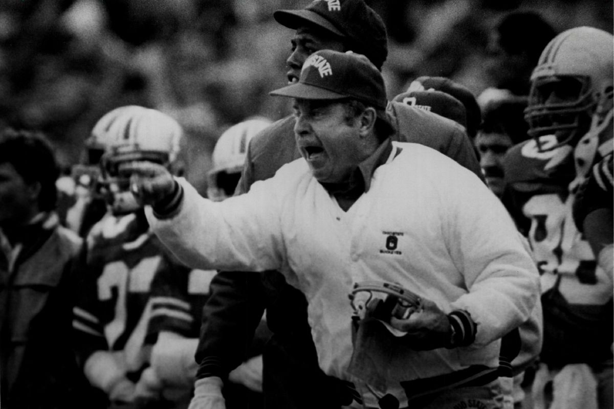 Earle Bruce of the University of Ohio State...