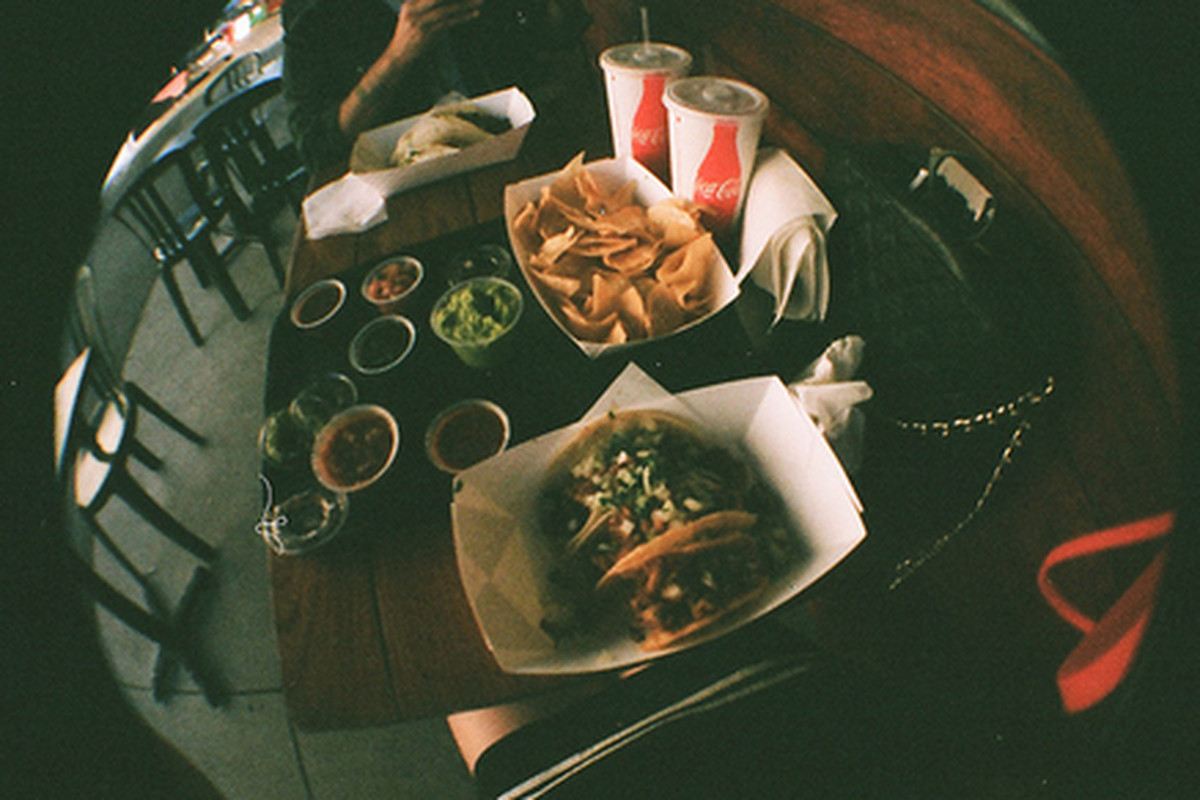 Inside Hugo's Tacos, Los Angeles.