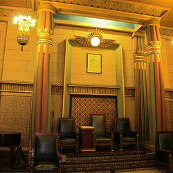 The Egyptian lodge room.