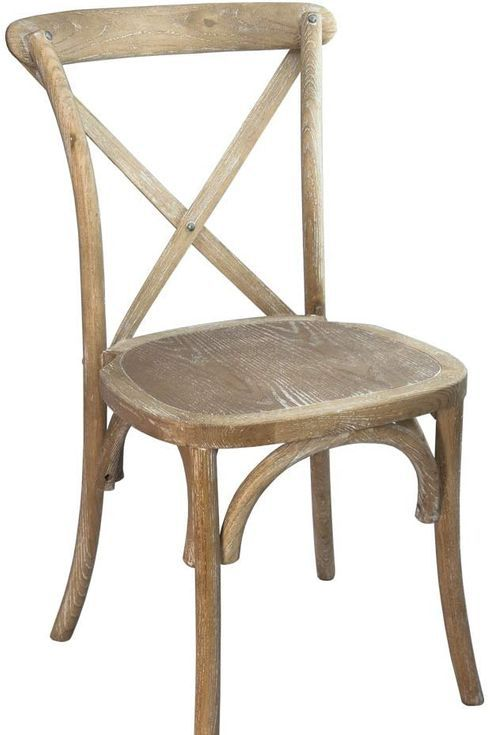 Wooden, cafe-style chair.