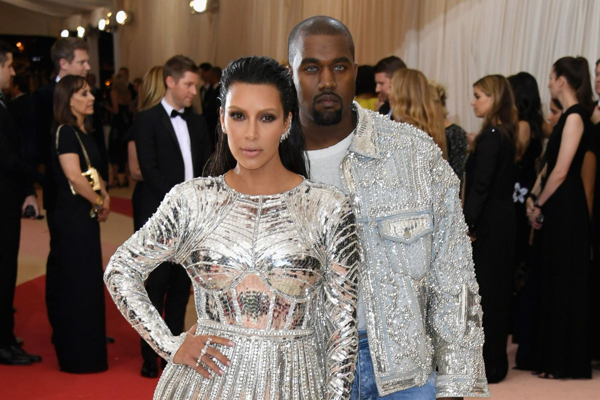 release info on best sell good quality Kim Kardashian West and Kanye West Wore Matching Balmain to ...