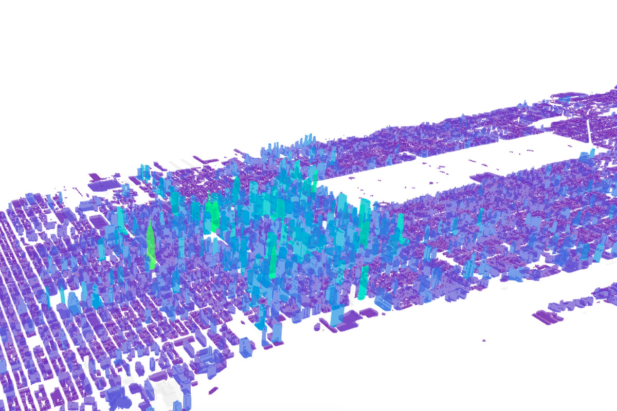 every manhattan building is mapped in this new data visualization