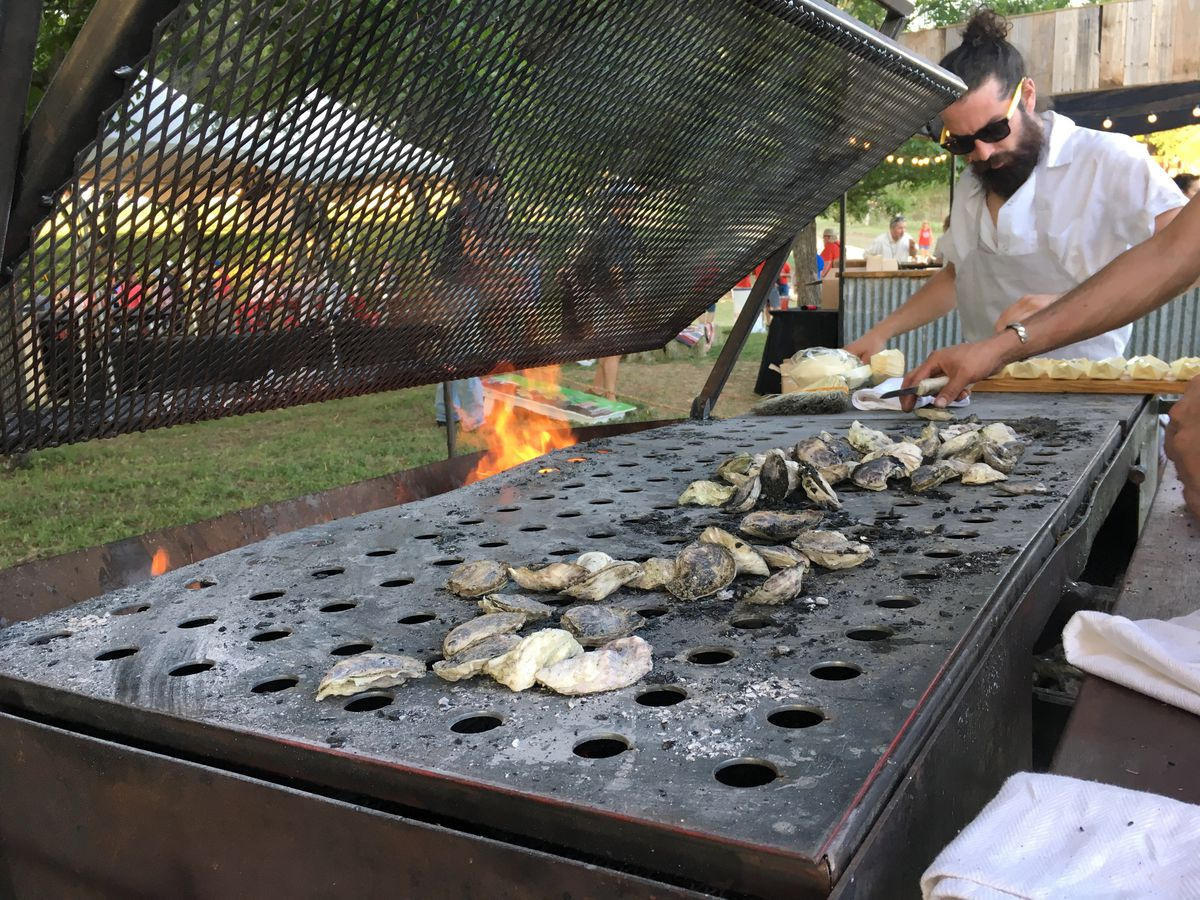 Casey Wilcox's oyster grill at Al Fuego