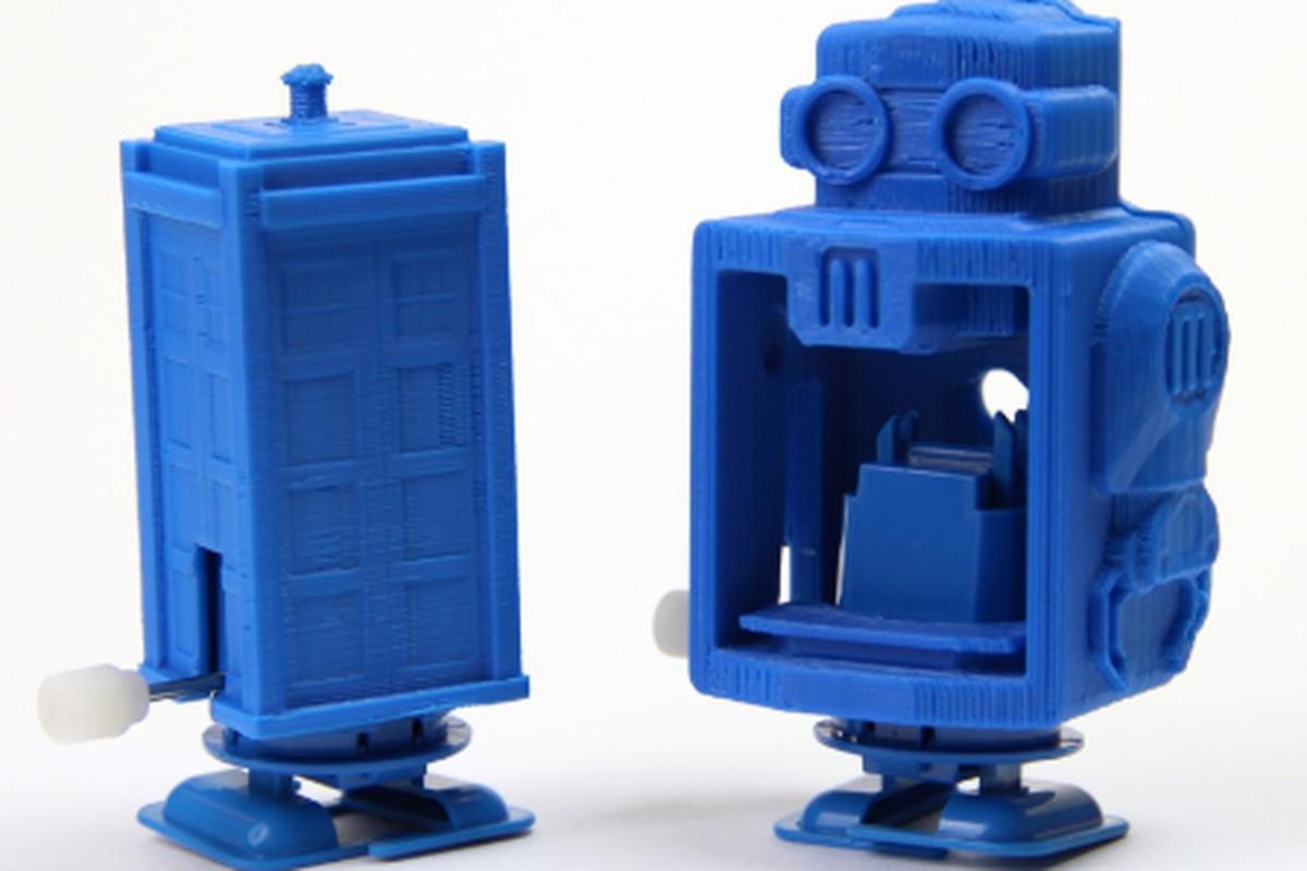 "MakerBot's <a href=""http://store.makerbot.com/windup-walkers.html"">Windup Walkers</a>"
