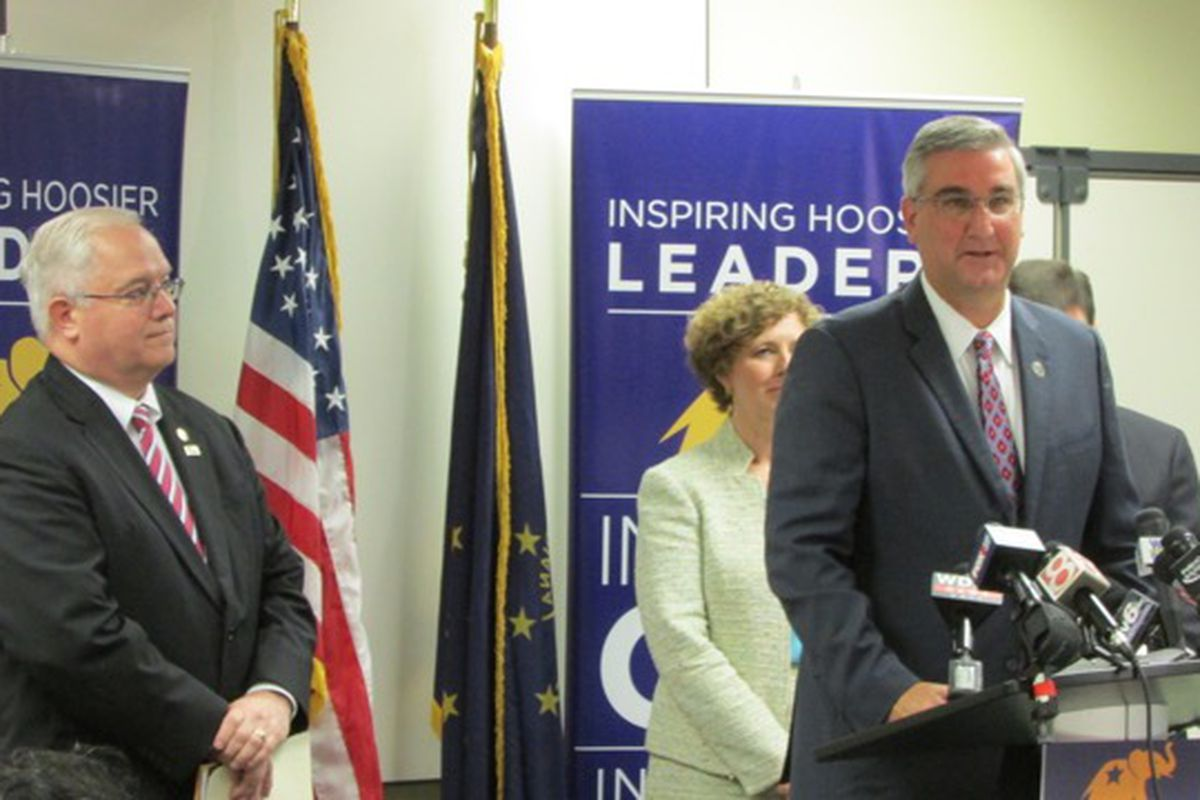 The Indiana Republican Party picked Eric Holcomb as its 2016 nominee for Indiana governor.