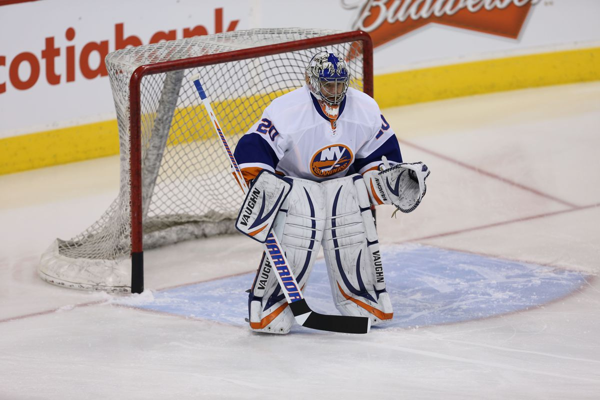 Technically, he *has been* a good goalie in this league.