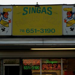 """<b>Singas Famous Pizza</b>: Famous for fastest service, call in your order by phone. (<a href=""""http://www.flickr.com/photos/25072907@N04/5624561129/in/set-72157626385822427/"""">photo</a>)"""