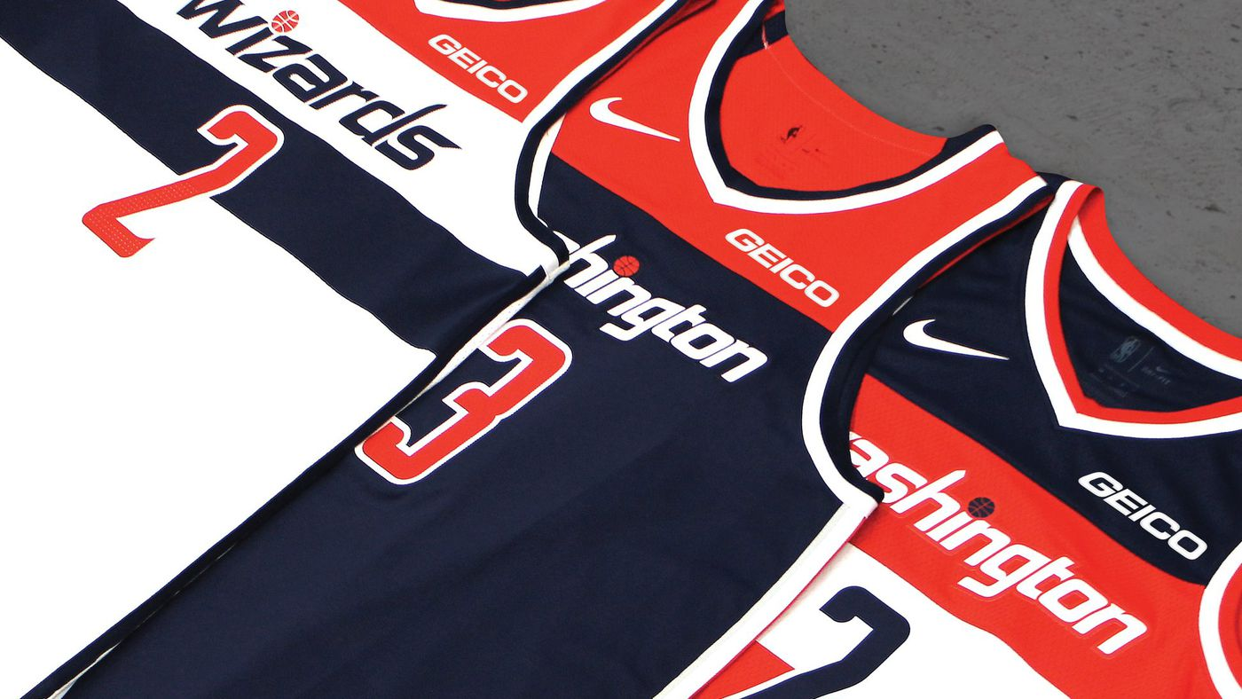 best loved 572b0 6c7a0 GEICO to sponsor jerseys for Wizards, Mystics, and Go-Go ...