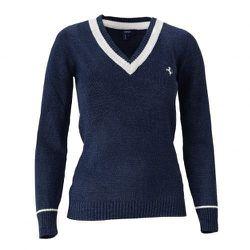 "Horse V-neck women's jersey sweater, <a href=""http://store.ferrari.com/en/clothing/ladieswear/sweaters/"">$250</a>"