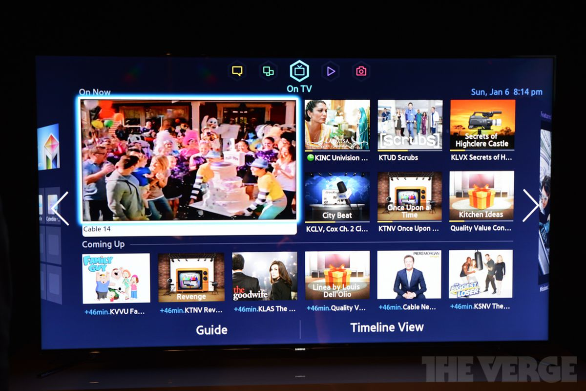 samsung tries to do it all with new smart tv interface. Black Bedroom Furniture Sets. Home Design Ideas