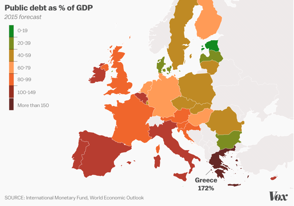Country Of Greece Map.Greece S Debt Crisis Explained In Charts And Maps Vox