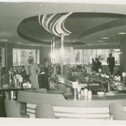 "The Dairy Bar inside the Kraft Foods (Sealtest) Building via <a href=""http://digitalgallery.nypl.org/nypldigital/dgkeysearchdetail.cfm?trg=1&strucID=1796505&imageID=1676601&parent_id=1784919&word=&snum=&s=&notword=&d=&c=&f=&k=0&sScope=&sLevel=&sLabel=&sor"