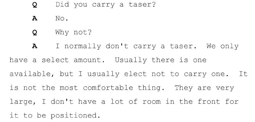 Wilson taser