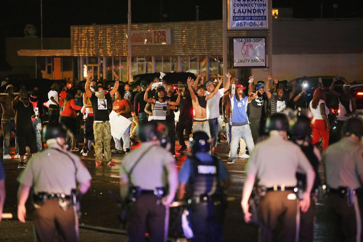 Friday night in Ferguson.