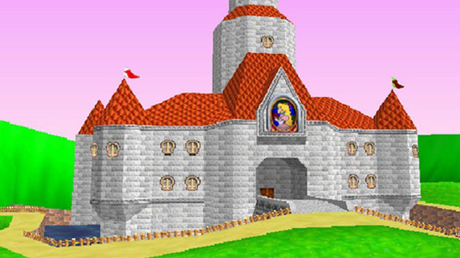 princess peach�s mario super mario 64 castle would be
