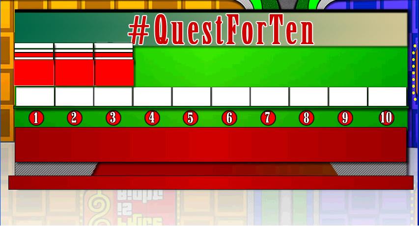 #QuestForTen game board