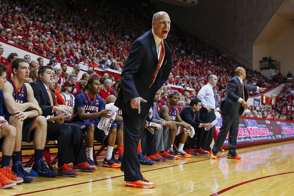 John Groce and the Illini host Indiana Sunday in a crucial conference matchup