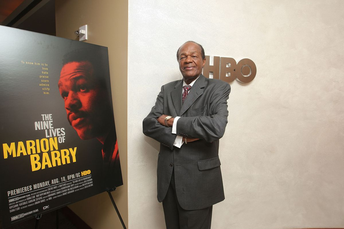 Washington Councilman and former Mayor Marion Barry attends the HBO documentary Screening of 'Nine Lives of Marion Barry' at the HBO Theater on August 6, 2009 in New York City.  (Photo by Michael Loccisano/Getty Images for HBO)