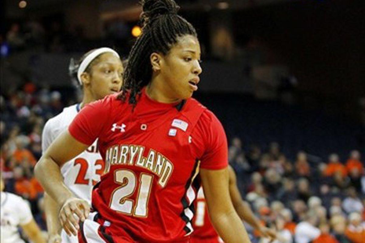 Tianna Hawkins and Maryland got back on track Thursday night.