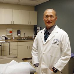 Dr. Tae Kim is a surgeon at LDS Hospital. He will be participating Saturday in the Deseret News/Intermountain Healthcare Health Hotline about colorectal cancer. Photo taken Wednesday, Feb. 8, 2012, in Salt Lake City, Utah.