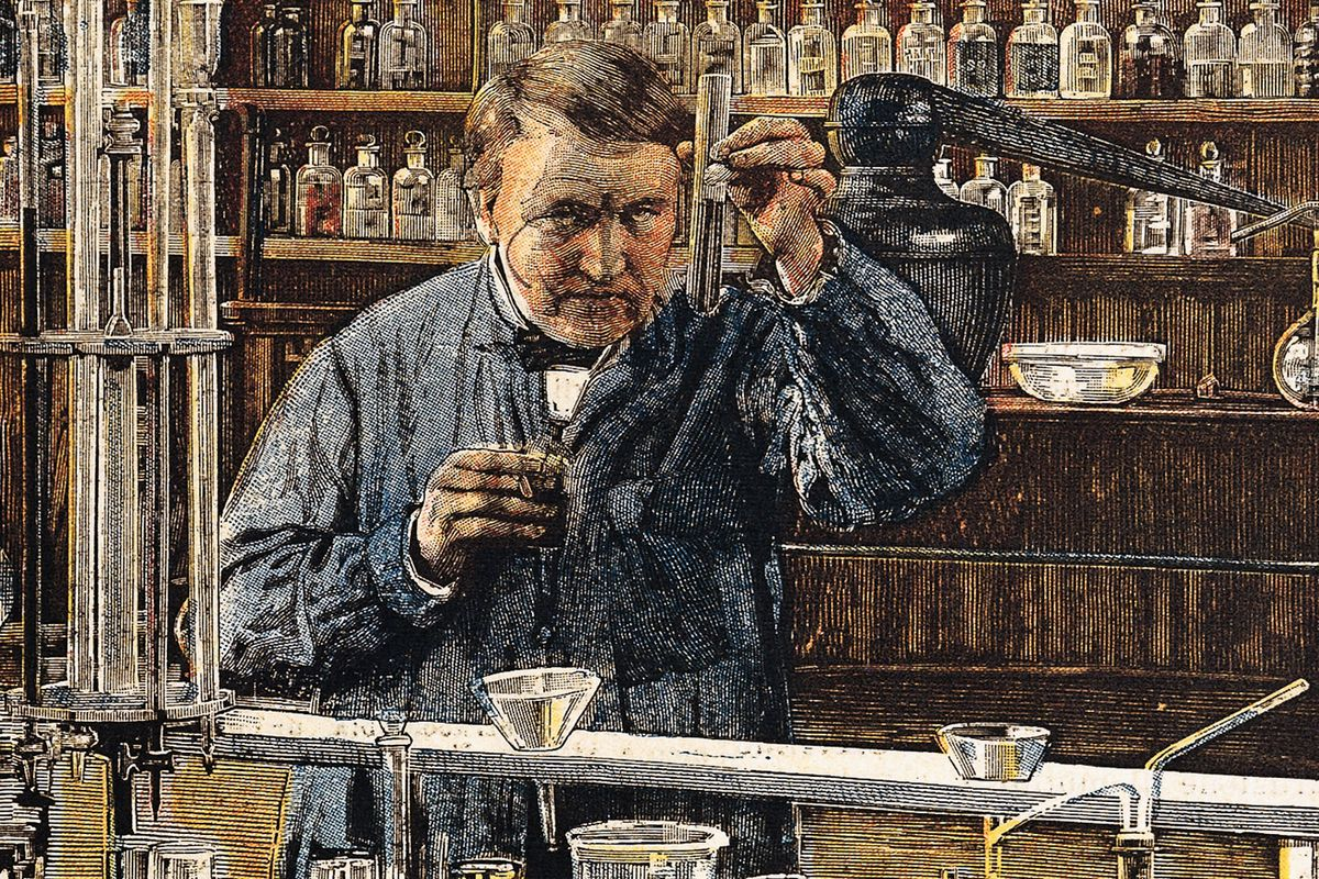 7 world changing inventions people thought were dumb fads vox thomas edison in the middle of an invention stare deaa dagli ortigetty images publicscrutiny Choice Image