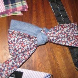 Liberty print bow tie.