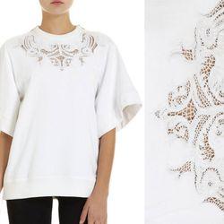 "<b>Givenchy</b> Cutout Lace Sweatshirt, <a href=""http://www.barneys.com/Givenchy-Cutout-Lace-Sweatshirt/00505022992277,default,pd.html?utm_source=GAN&utm_medium=ShopStyle.com&utm_campaign=Primary%20Banner"">$1,620</a> at Barneys"