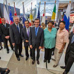 Former LA Mayor Antonio Villaraigosa joined current LA Mayor Eric Garcetti for the big event.