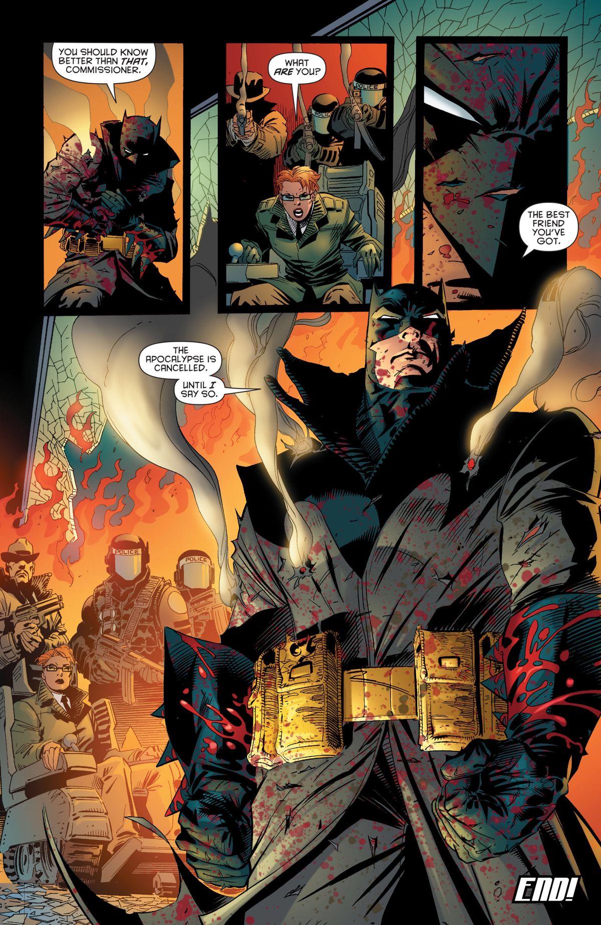 An adult Damian Wayne as a potential future Batman, in Batman #666, DC Comics (2007).