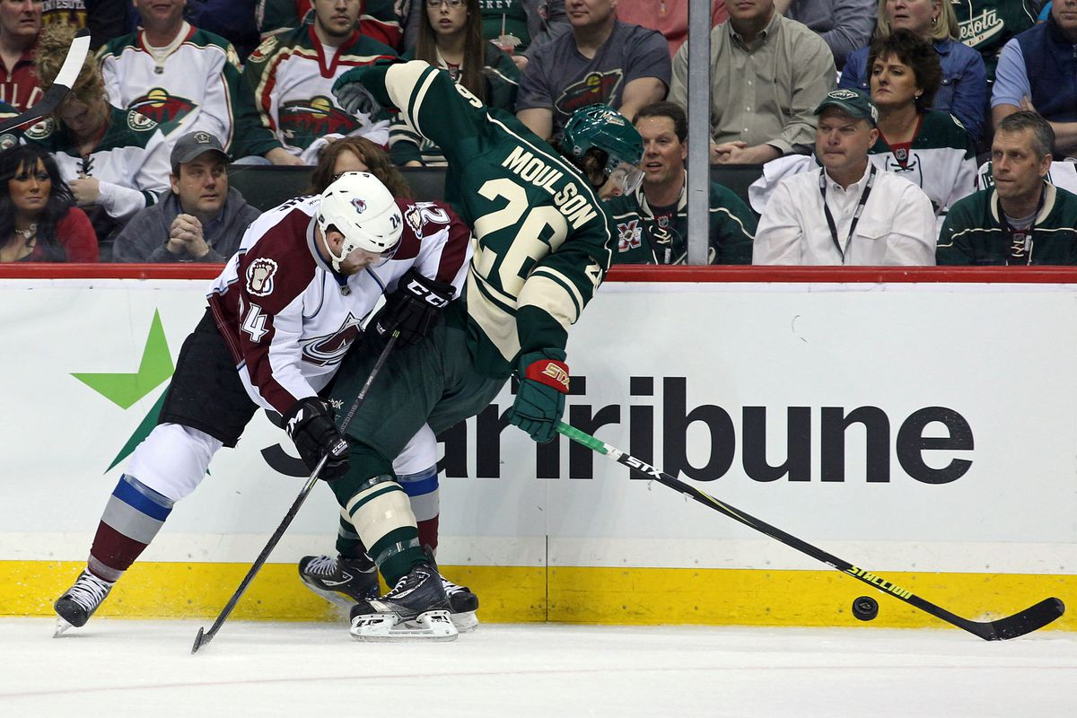 Matt Moulson has done better this series than his lack of points, or this picture, have indicated.
