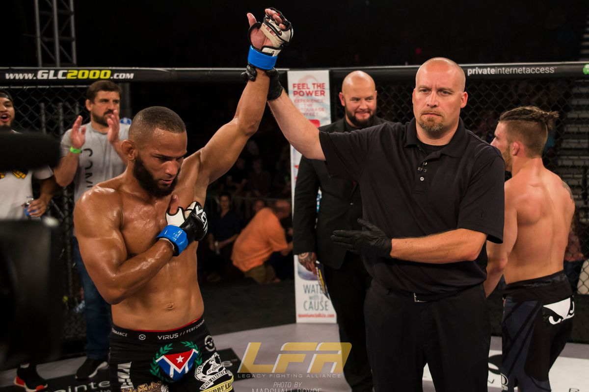 Ex-Olympian Maikel Perez hopes to follow UFC road laid by