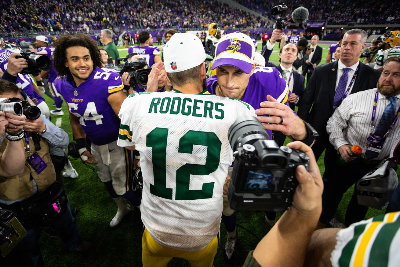 usa today 11734140.0 - Packers favored by field goal hosting Vikings in Week 2