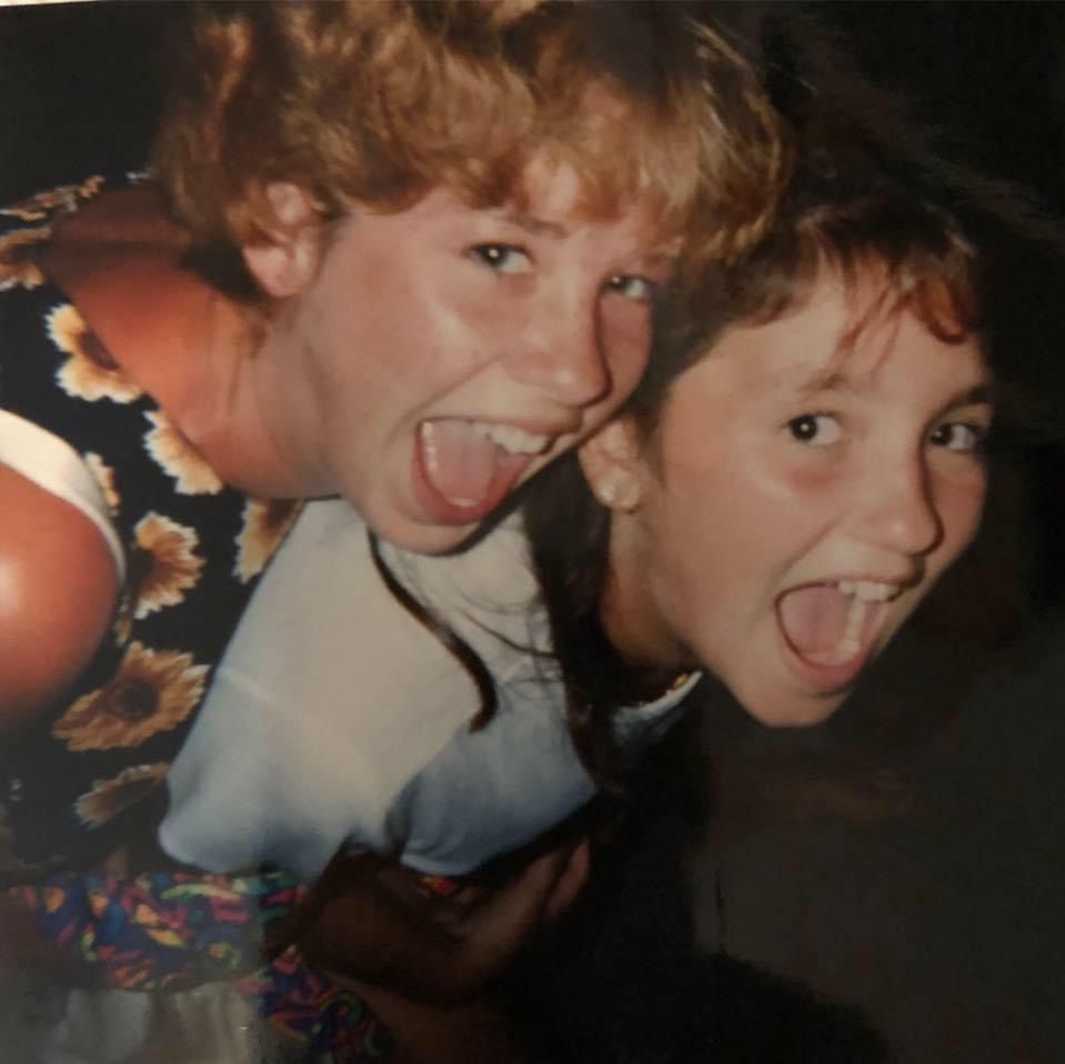 Stephanie Fulham, 14 (left) and her sister Christina, then 12, the year Stephanie died.