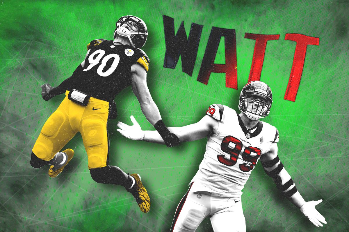 purchase cheap 1673f 4ad7b Which Watt Brother Is Winning the 2018 NFL Pass-Rush Battle ...