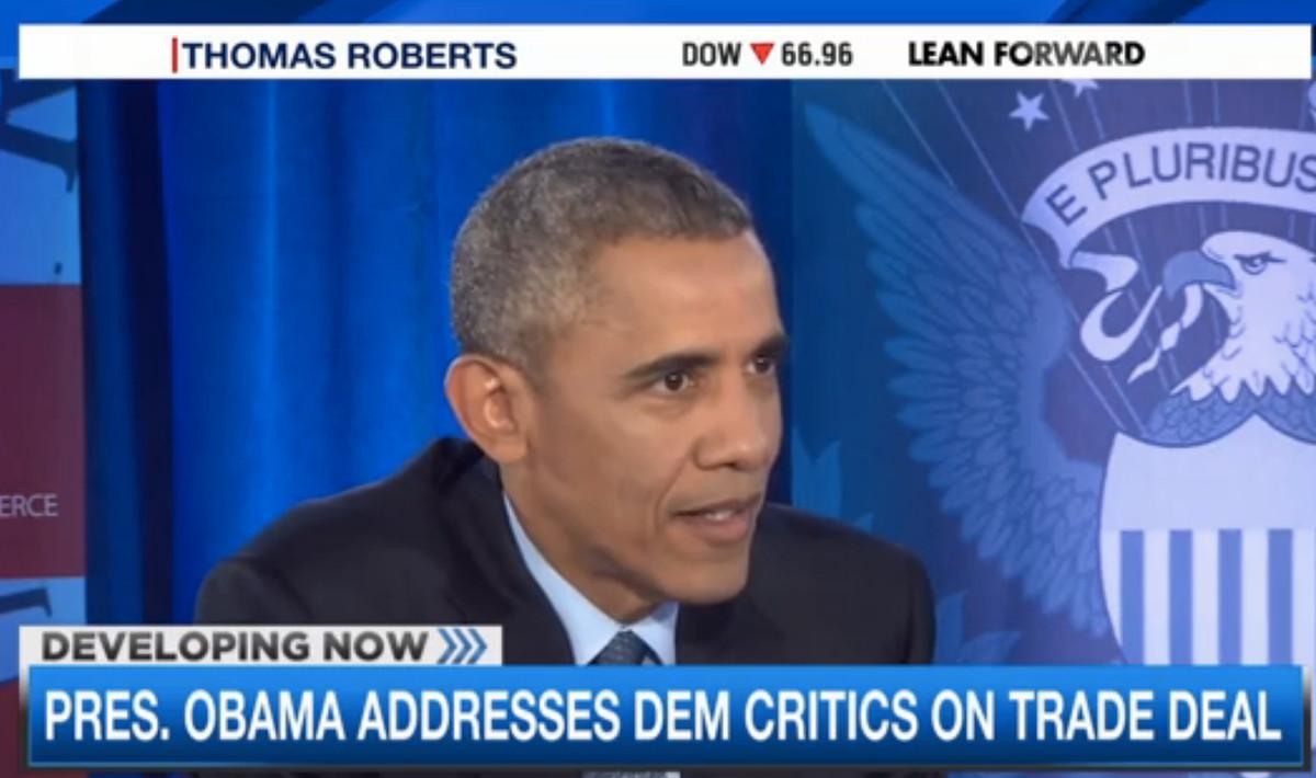 Obama MSNBC TPP