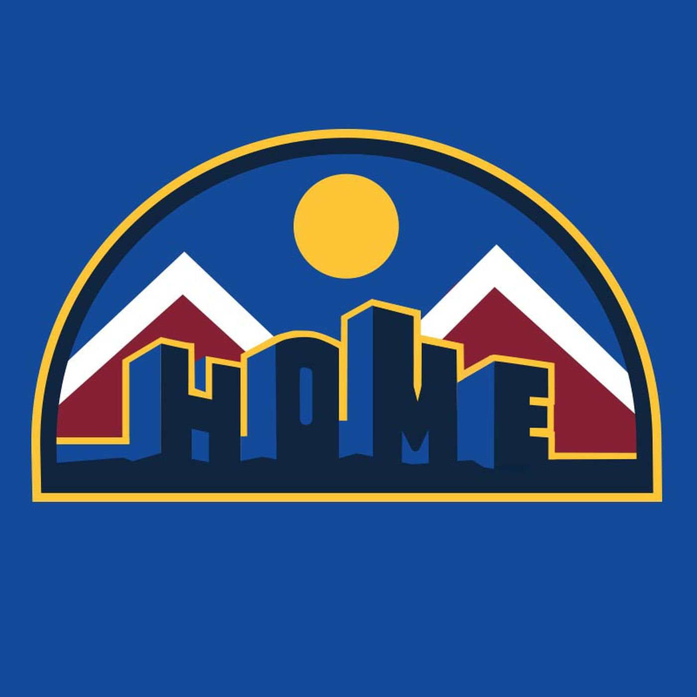 """buy popular 8d721 ddacf The new Denver Nuggets """"HOME"""" t-shirt from D-Line CO is the ..."""