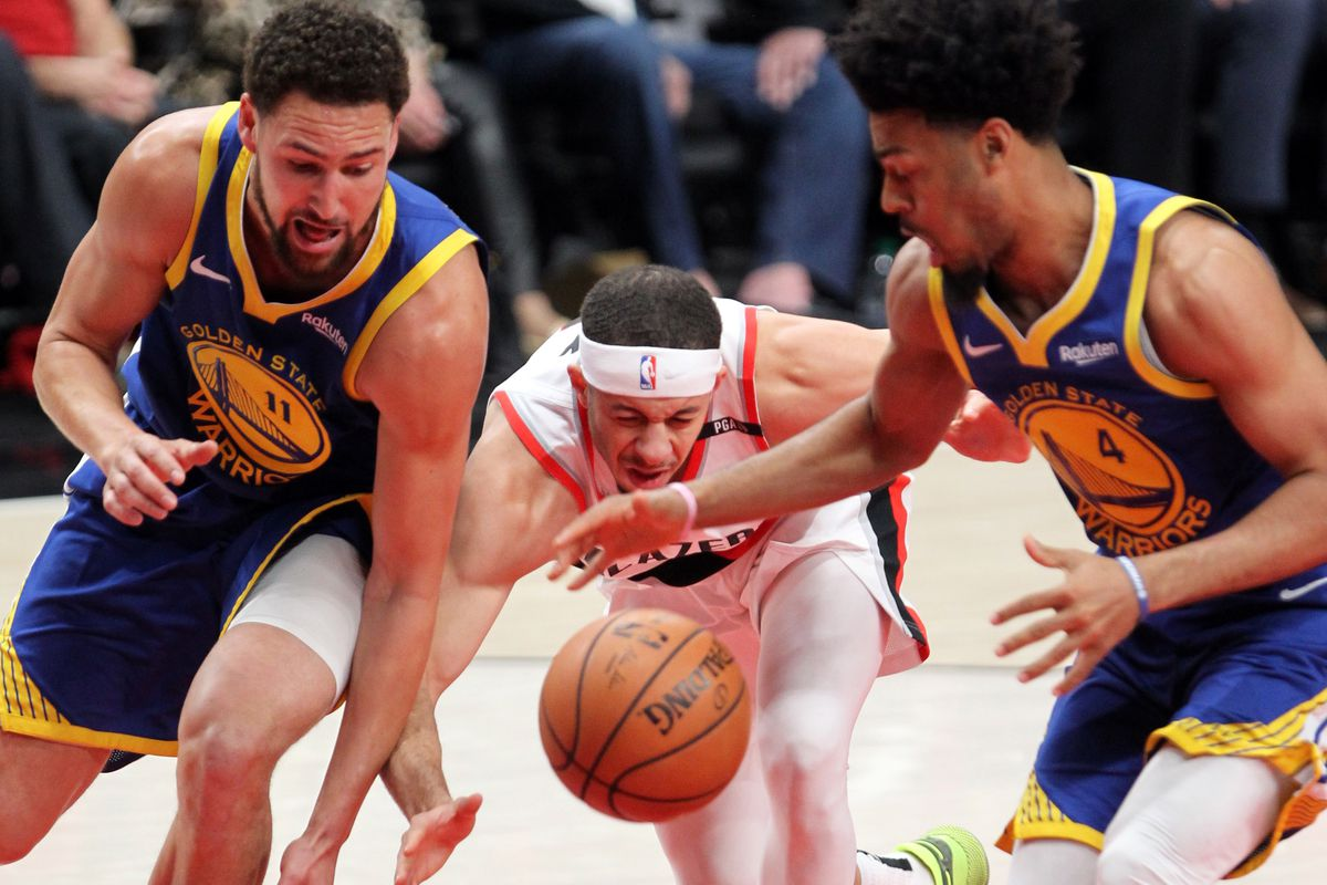 5178822e143c Final Score  Warriors finish Blazers in OT 119-117 to complete sweep. Steph  Curry ...