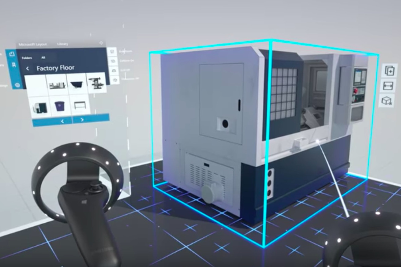 microsoft layout lets hololens users design a floor plan with holographic furniture