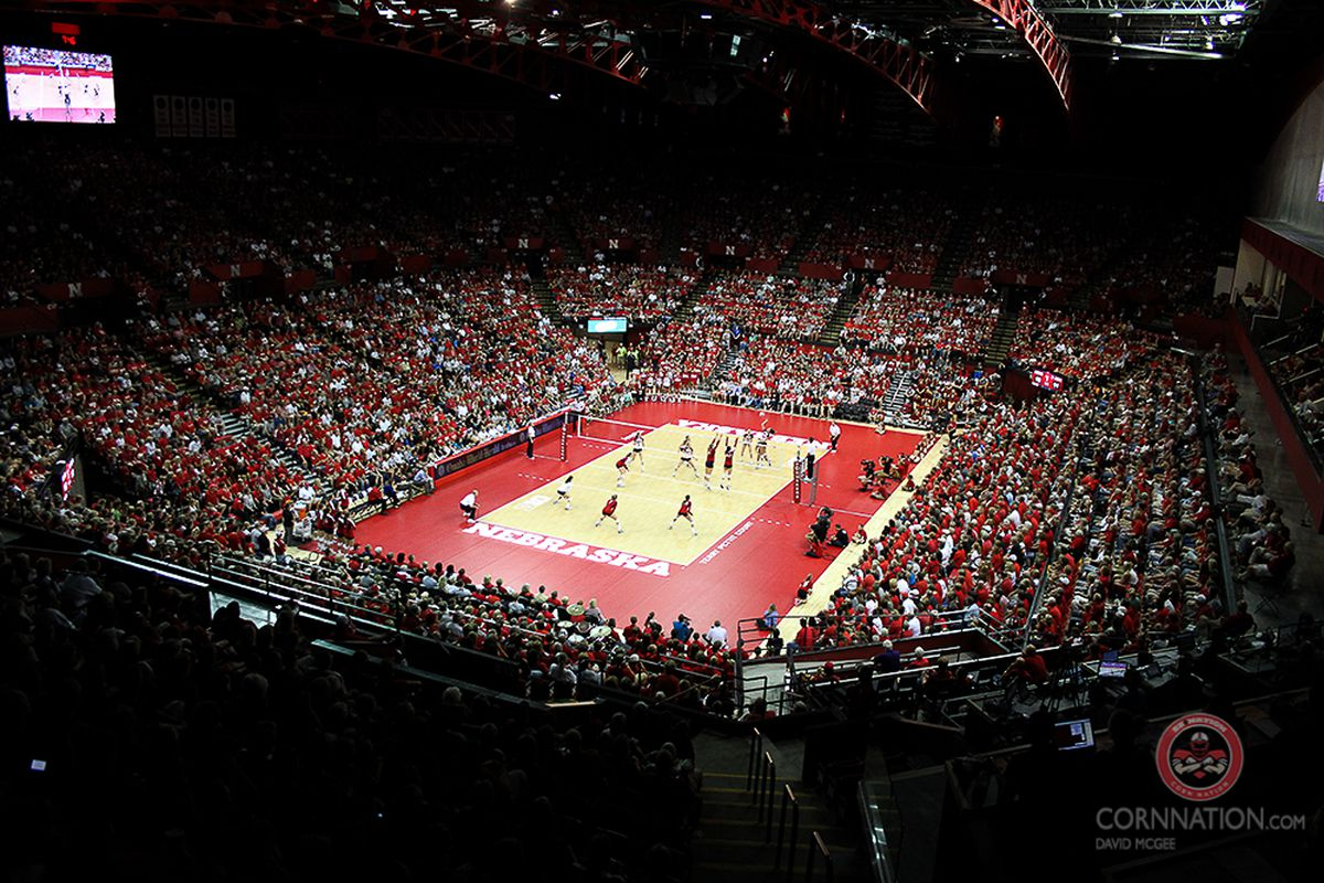 Huskers vs. St. Mary's Volleyball Gallery