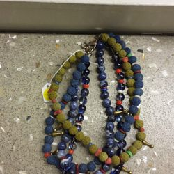 Beaded necklace, $250