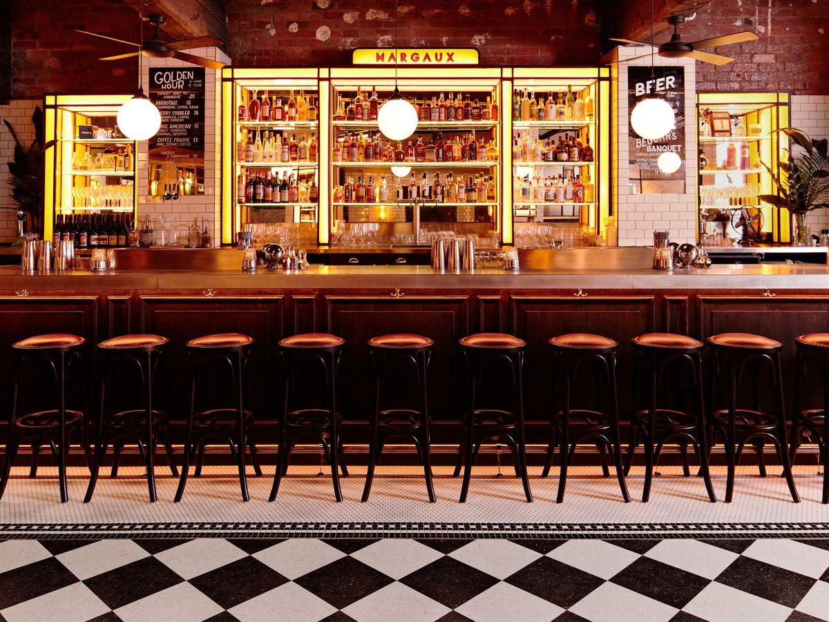 The bar at Bar Margaux