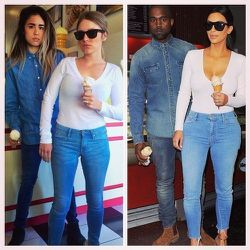 """<a href=""""http://sf.racked.com/archives/2014/10/31/what-would-yeezus-wear.php"""">What Would Yeezus Wear?</a> That was the question on two SF besties' minds when they started their KimYe fashion tribute blog. Their hilarious —and spot on— recreati"""