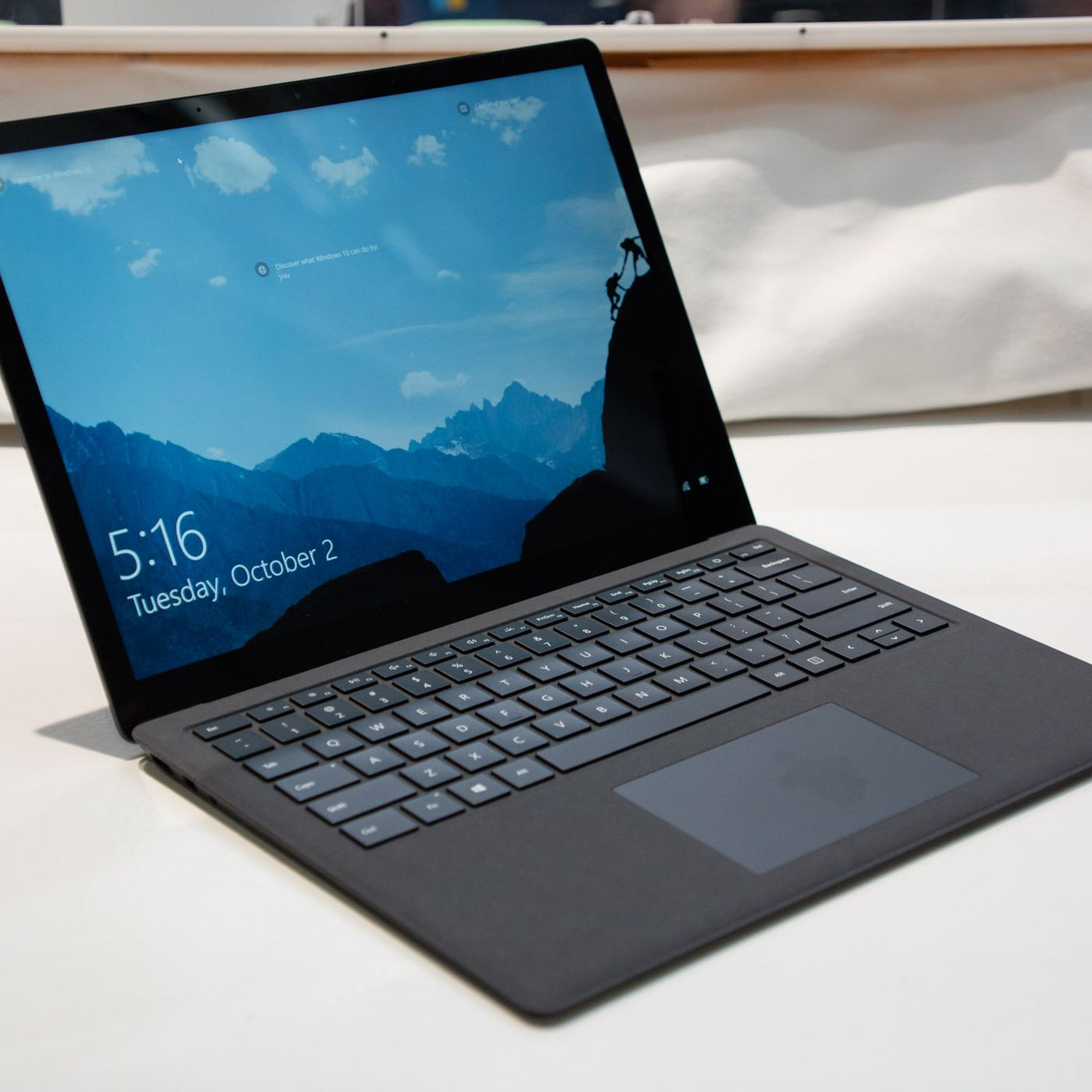 first look at microsoft s new matte black surface laptop 2 the verge
