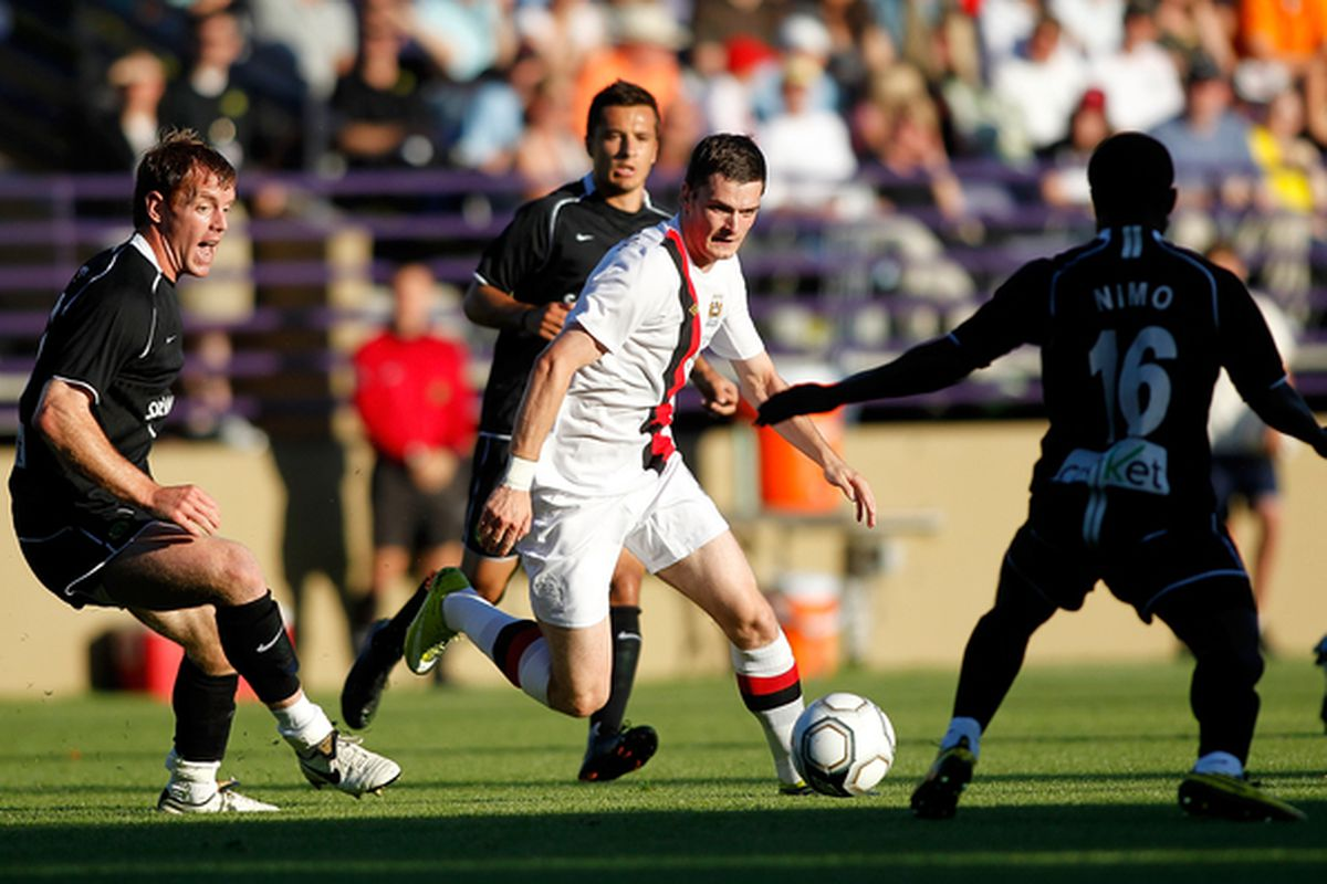 In their final year as a USL team, the Portland Timbers played a friendly against Manchester City of the EPL. (Photo by Jonathan Ferrey/Getty Images)