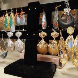 Alexis Bittar earrings.