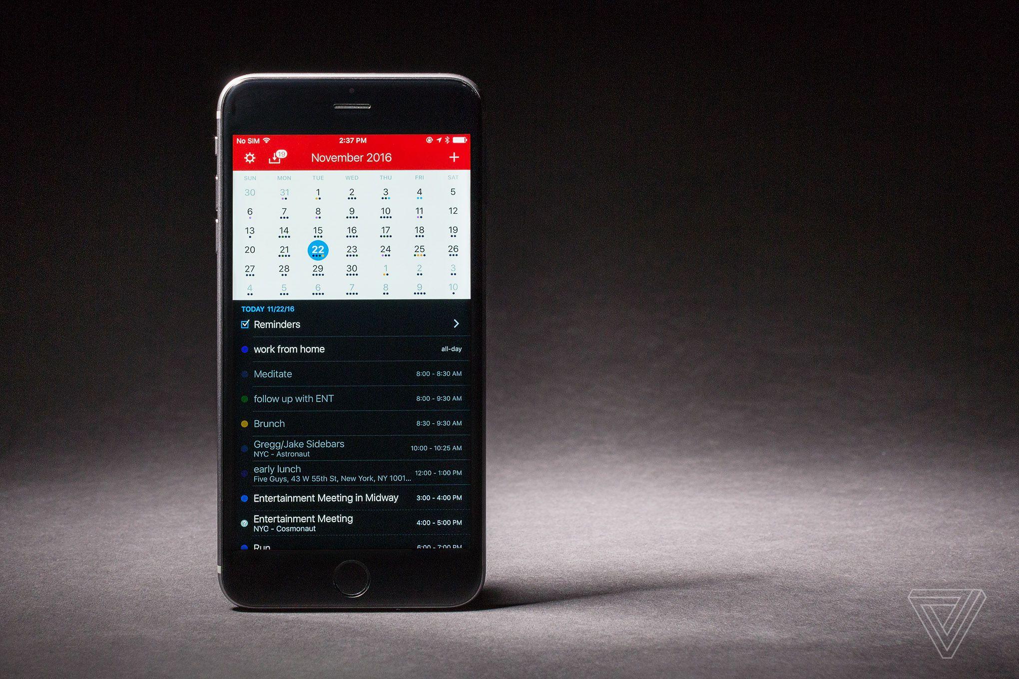 Calendar App For Iphone : The best calendar app for iphone verge