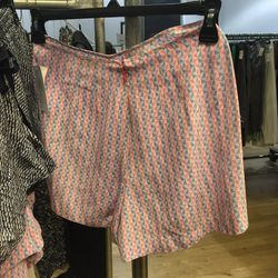 Equipment silk shorts, $30