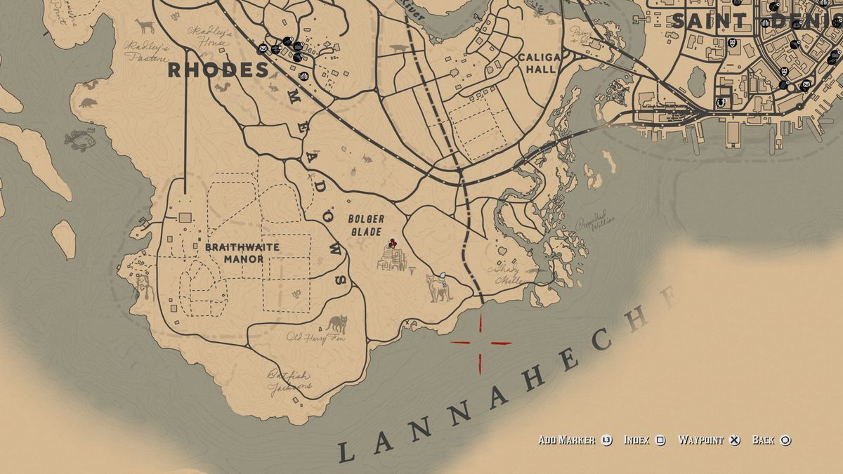 RDR2 Legendary Giaguaro Panther map